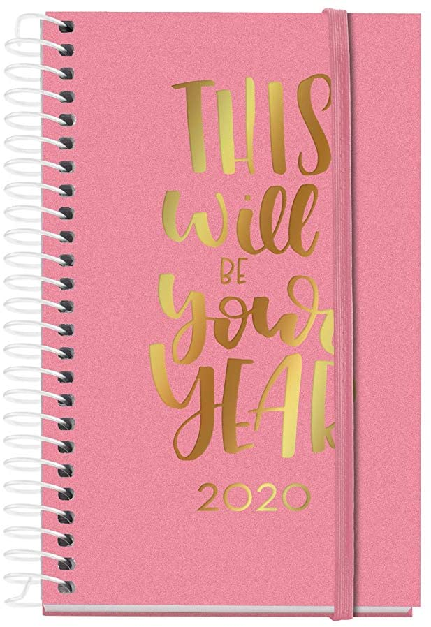 Miquelrius 39067 – 2020 Diary, Day Page (80 x 125 mm), Pocket, Script Pink, Spanish