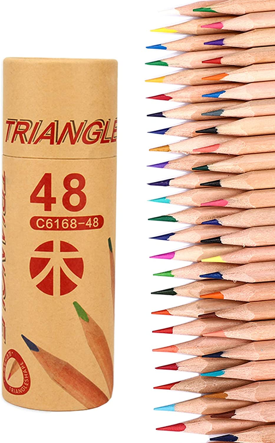 Colored Pencils Assorted Colors Adult/Kids Coloring Art Supplies Colored Pencil Set, 48 Colors #6