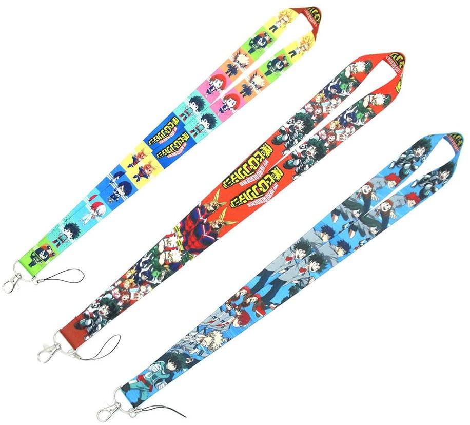 HomMall Anime My Hero Academia Key Lanyard Phone Rope Chain Badge ID Cards Holders Neck Straps Keychain