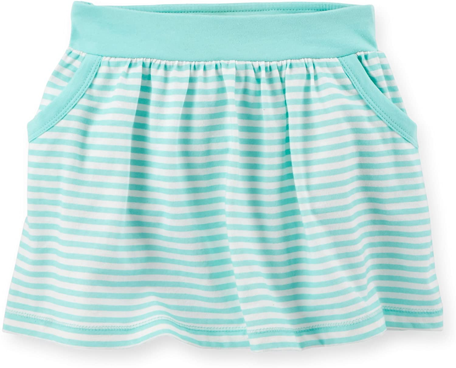 Carter's Baby Girls Striped Scooter Skirt (18M, Mint Green)