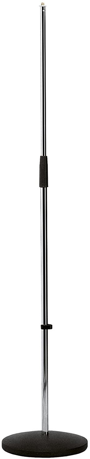 K&M 260/1 Round Base Microphone Stand, Chrome