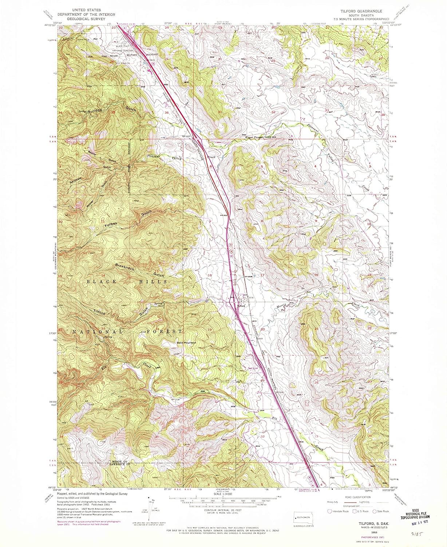 Map Print - Tilford, South Dakota (1953), 1:24000 Scale - 24