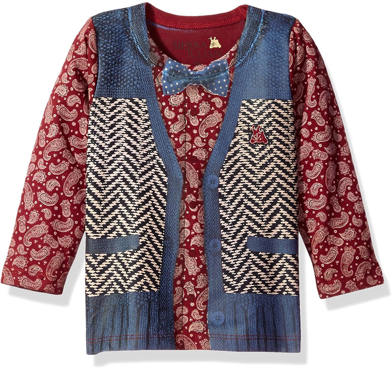 SIERRA JULIAN Baby Boys' Notito Long Sleeve Tee Shirt