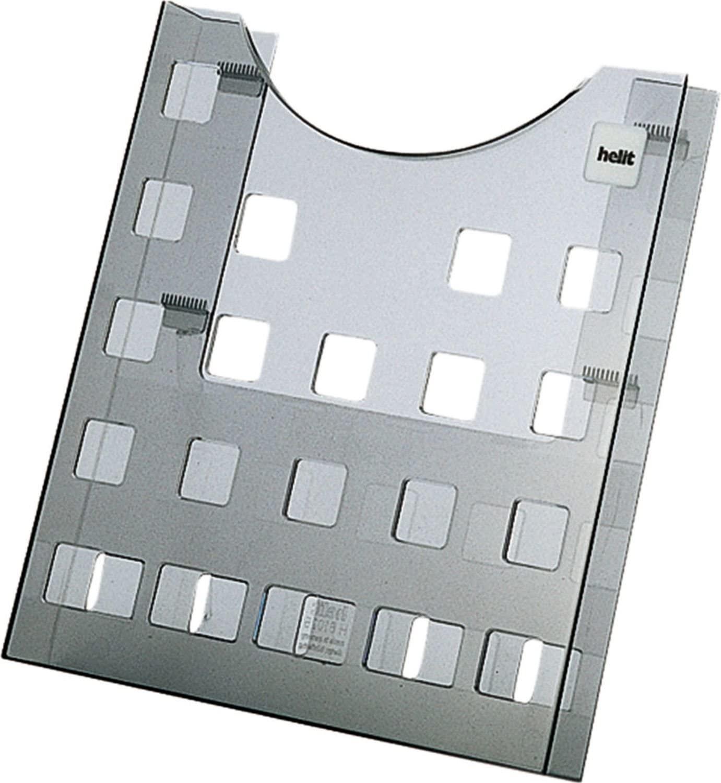 helit H6102508Single Plastic Case DIN A4Portrait Hole Design Grey/Transparent