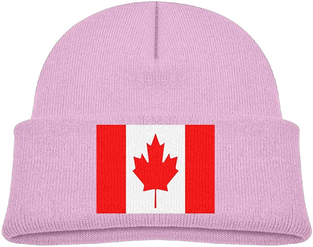 lead-do Baby Boys Girls Canadian Flag Kint Beanie Hats Toddler & Kids Winter Warm Kinted Caps(2-6T)