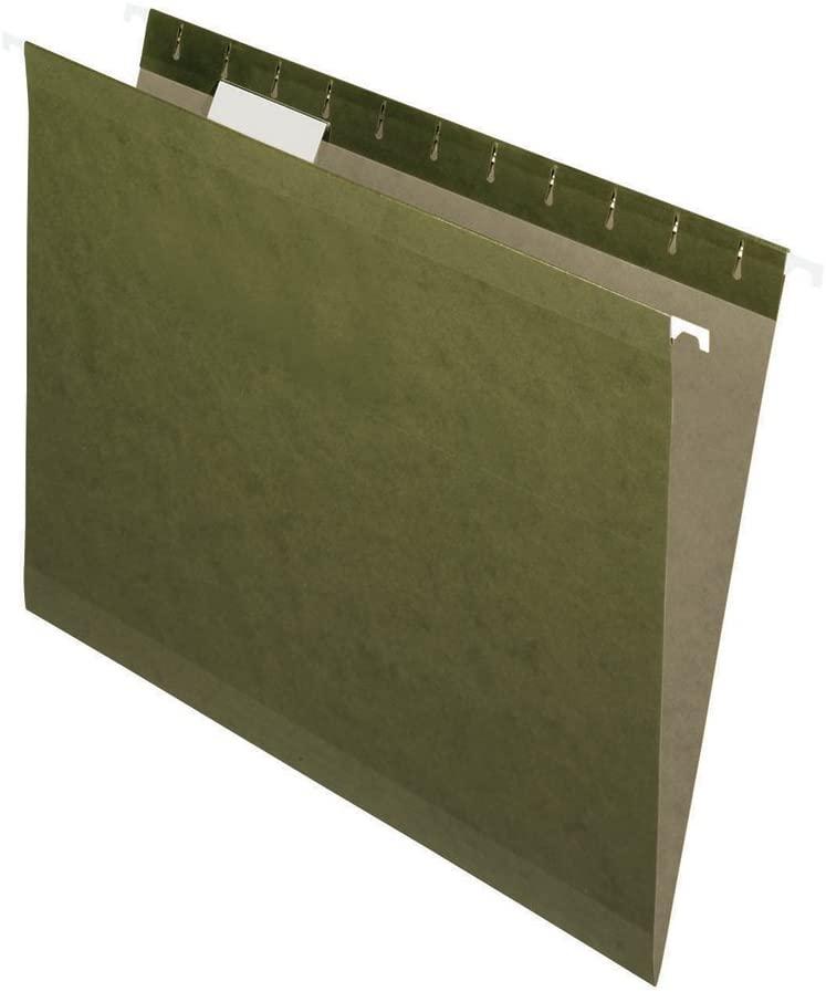 Esselte Pendaflex 91525 25 Count File Pro Standard Green Hanging File Folders