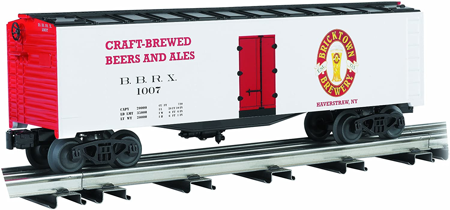 Williams By Bachmann Trains 40' Scale Refrigerator Car - Bricktown Brewery - Beer Reefer - O Scale