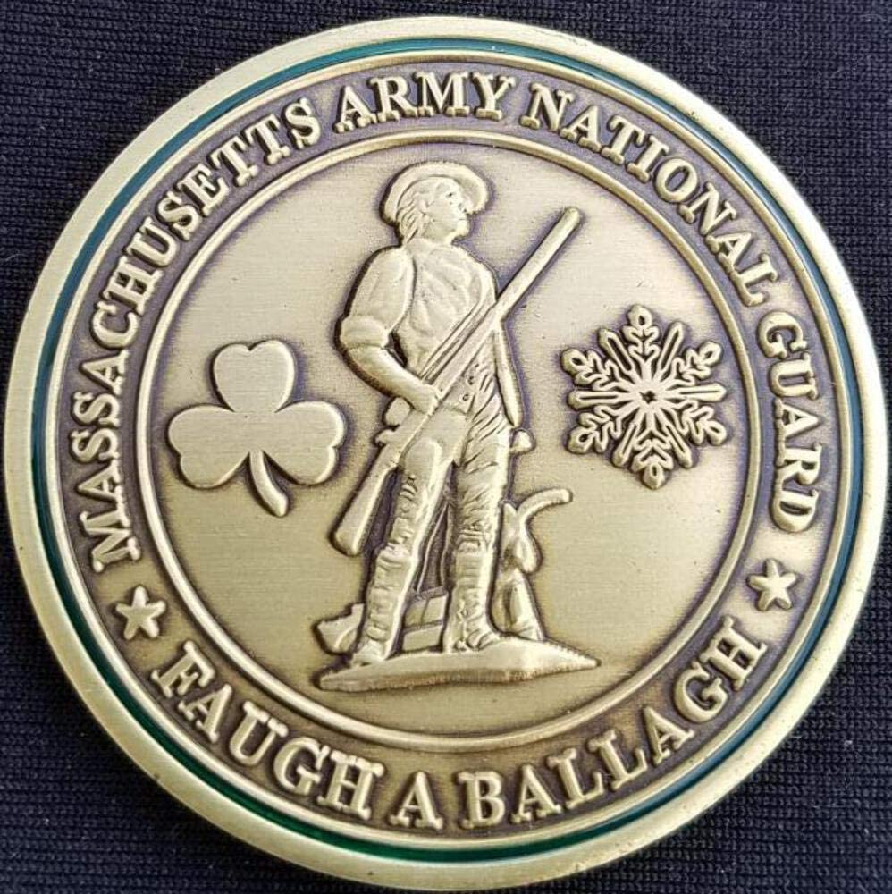 Massachusetts Army National Guard Brigadier General Paul Smith Custom Challenge Coin