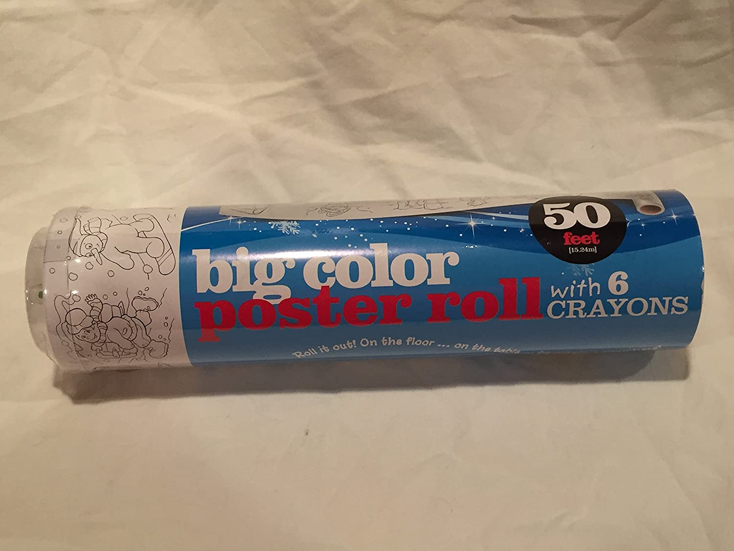Big Color Let It Snow! Poster Roll 50 feet Long with 6 Crayons