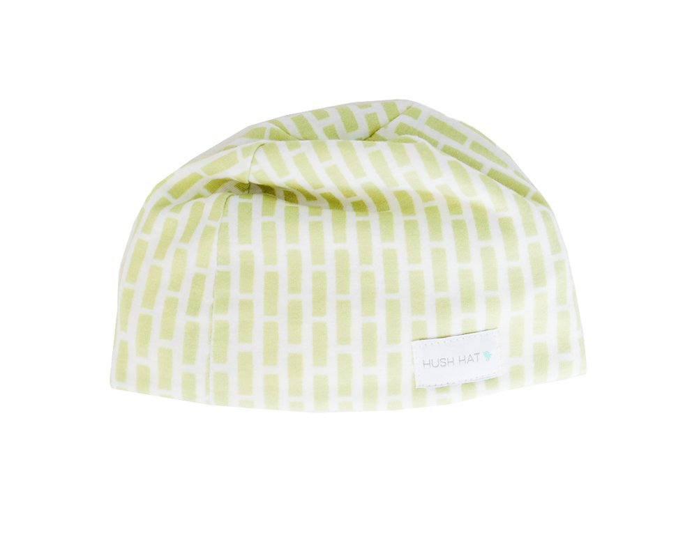 Hush Baby Hat with Softsound Technology and Medical Grade Sound Absorbing Foam, Lime Bricky/Small