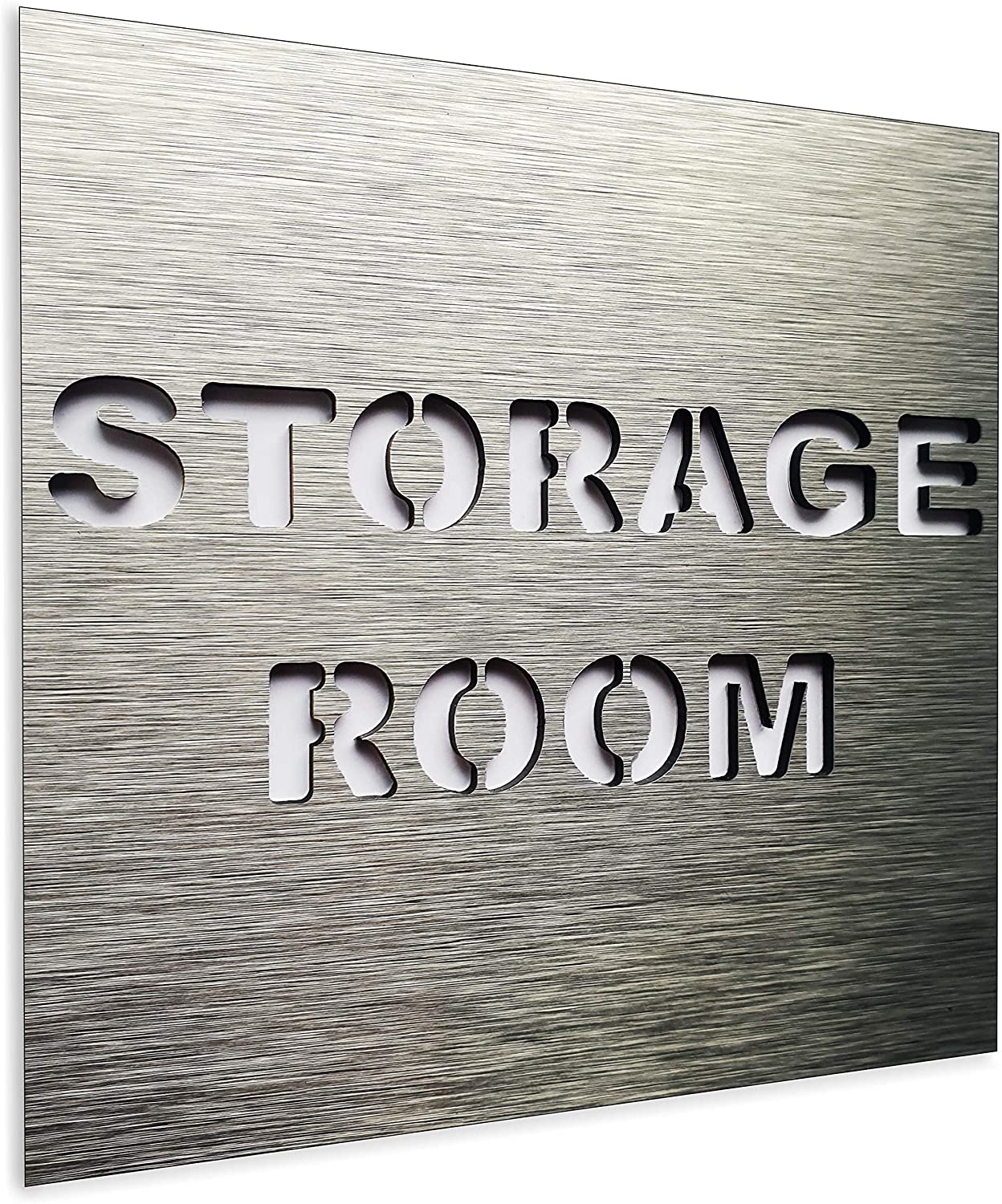 BSYDESIGN Aluminium Storage Room Sign - Warehouse Modern Door Signage - Sign for Business - Office Room Plaque - Indoor & Outdoor - Stowage Plaque - Store Sign - Storehouse