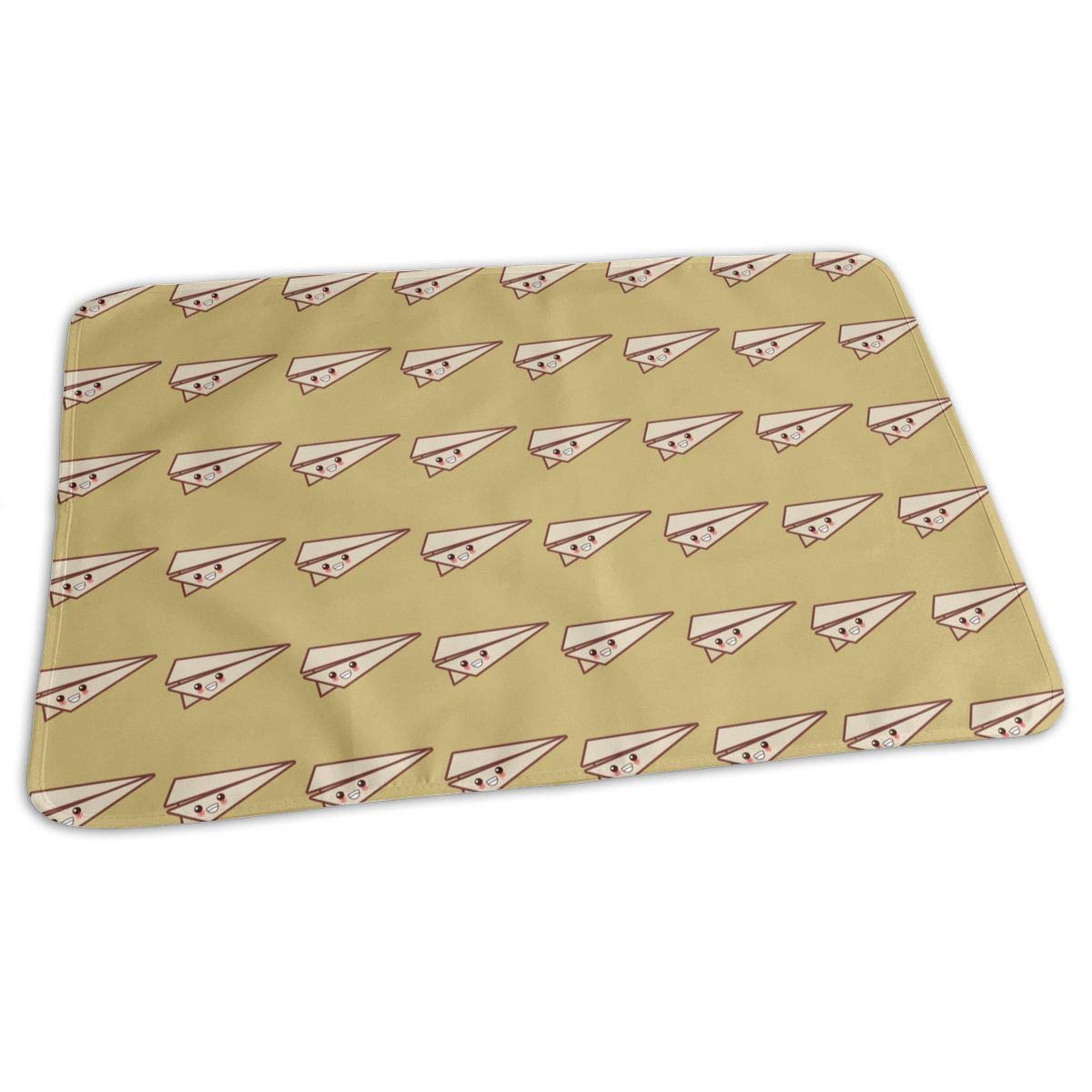 Cute Paper Plane Baby Changing Pad Waterproof Portable Changing Pad Home Travel 27.5¡±x19.7¡±
