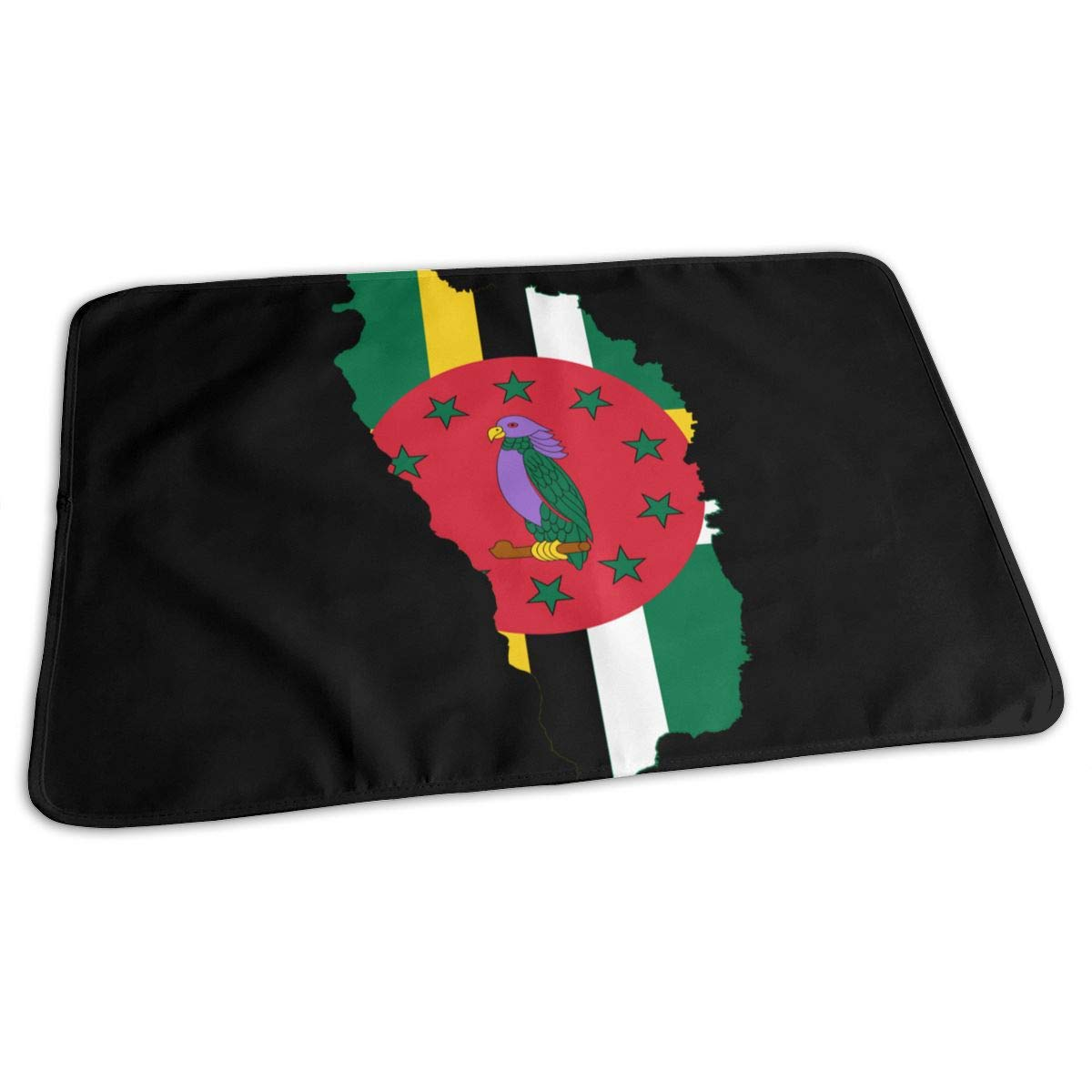 Flag of Dominica Flag Map Baby Changing Pad Waterproof Portable Changing Pad Home Travel 27.5¡±x19.7¡±