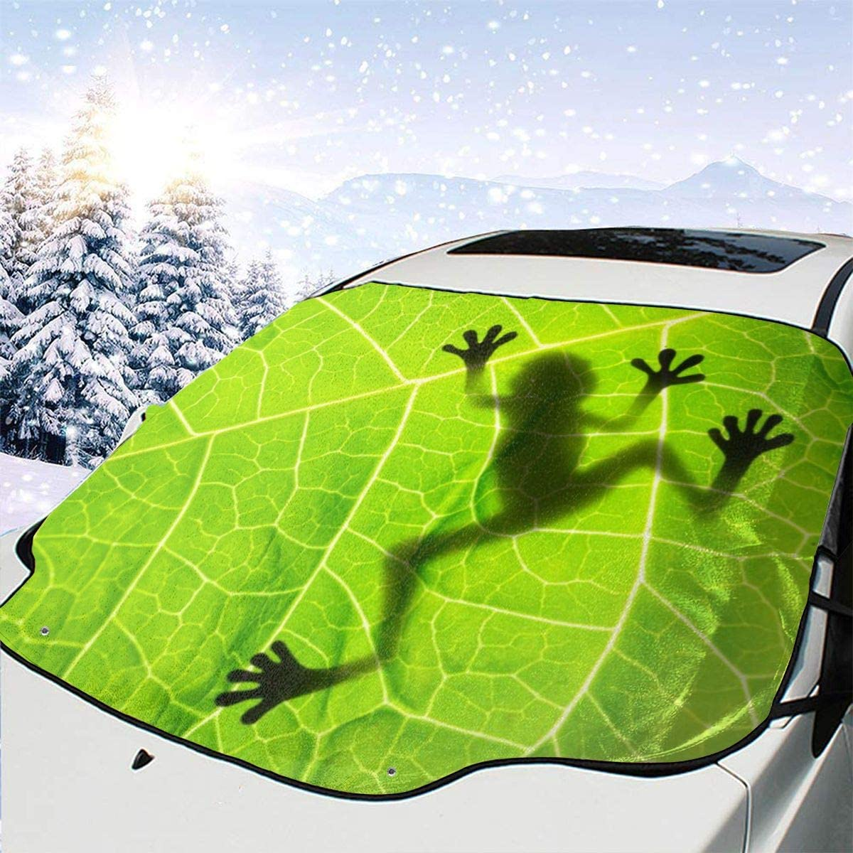 THONFIRE Car Front Window Windshield Winter Sun Shade Frogs Cover Waterproof Blocks Heat Damage Free Visor Protector Auto Autumn Heat Insulation