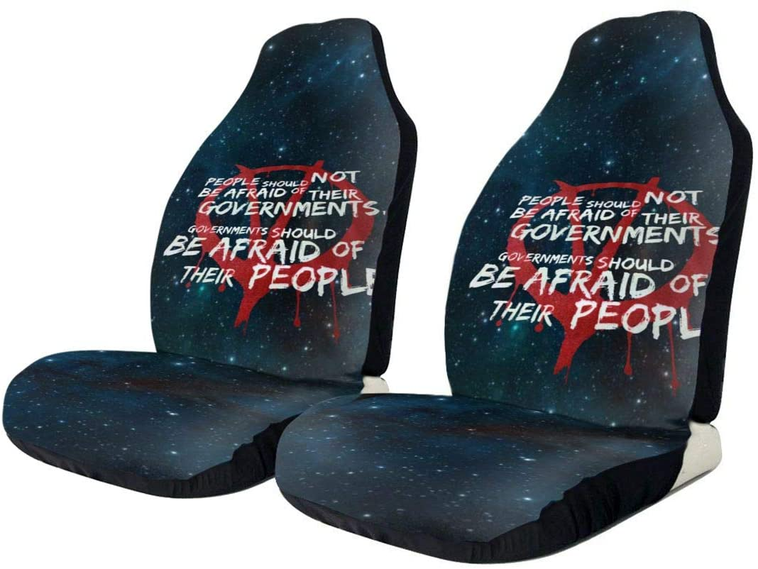 V for Vendetta Fashionable Car Seat Cover, Car Seat Protector, General Car Cushion Cover