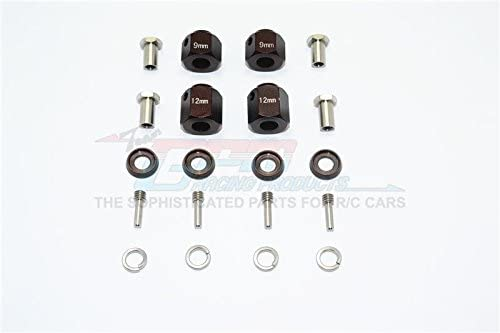 Traxxas TRX-4 Trail Defender Crawler Upgrade Parts Aluminum Hex Adapters 9mm & 12mm Thick - 20Pcs Set Brown
