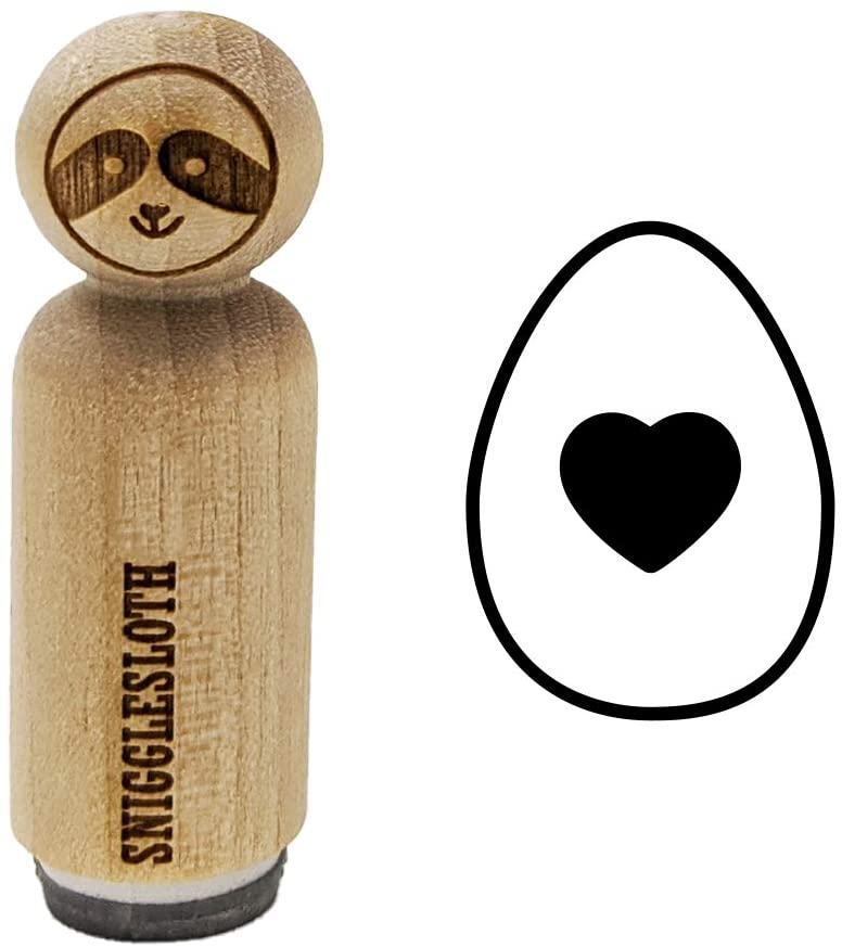 Heart in Egg Rubber Stamp for Stamping Crafting Planners - 1/2 Inch Mini