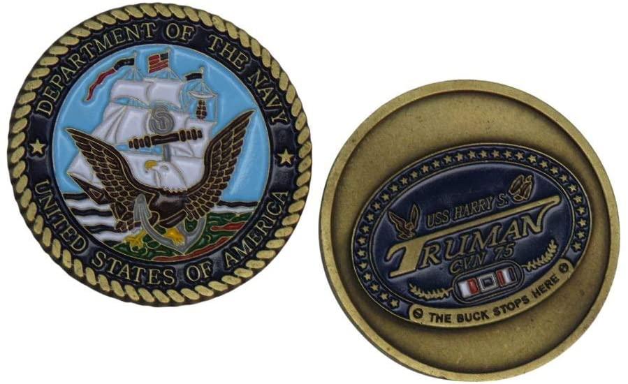 US Navy USS Harry S Truman CVN 75 Challenge Coin
