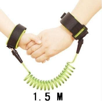 DLDLWJ 1Pc Baby tyToddler Child Anti Lost Wrist Link Infant Traction Rope Green