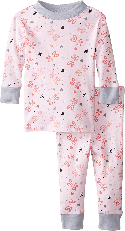 New Jammies Baby Girls' Organic Pajamas Ballerina Slippers
