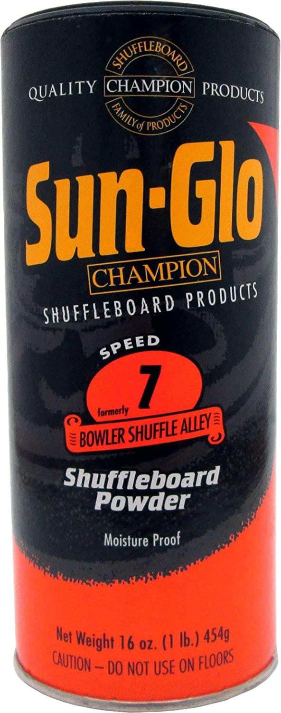 Sun-Glo Speed 7 (Bowler Shuffle Alley Wax) Shuffleboard Table Powder, 16 oz. Can