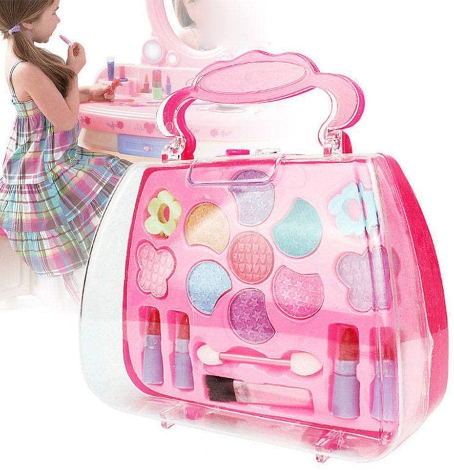 Maserfaliw Kids Makeup Kit, Kids Girls Makeup Set Eco-Friendly Cosmetic Pretend Play Kit Princess Toy Gift, Birthday Gifts, Home, Travel.