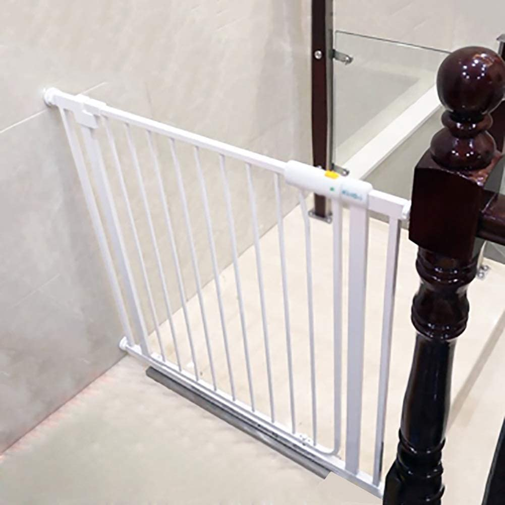 Huo Baby Safety Gate Baby Stair Barrier Automatic Closing Gate White Pet Fence Isolation Door (Size : 85-91cm)
