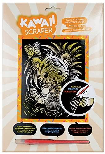 Sequin Art Kawaii Artfoil Tiger Kit, Gold