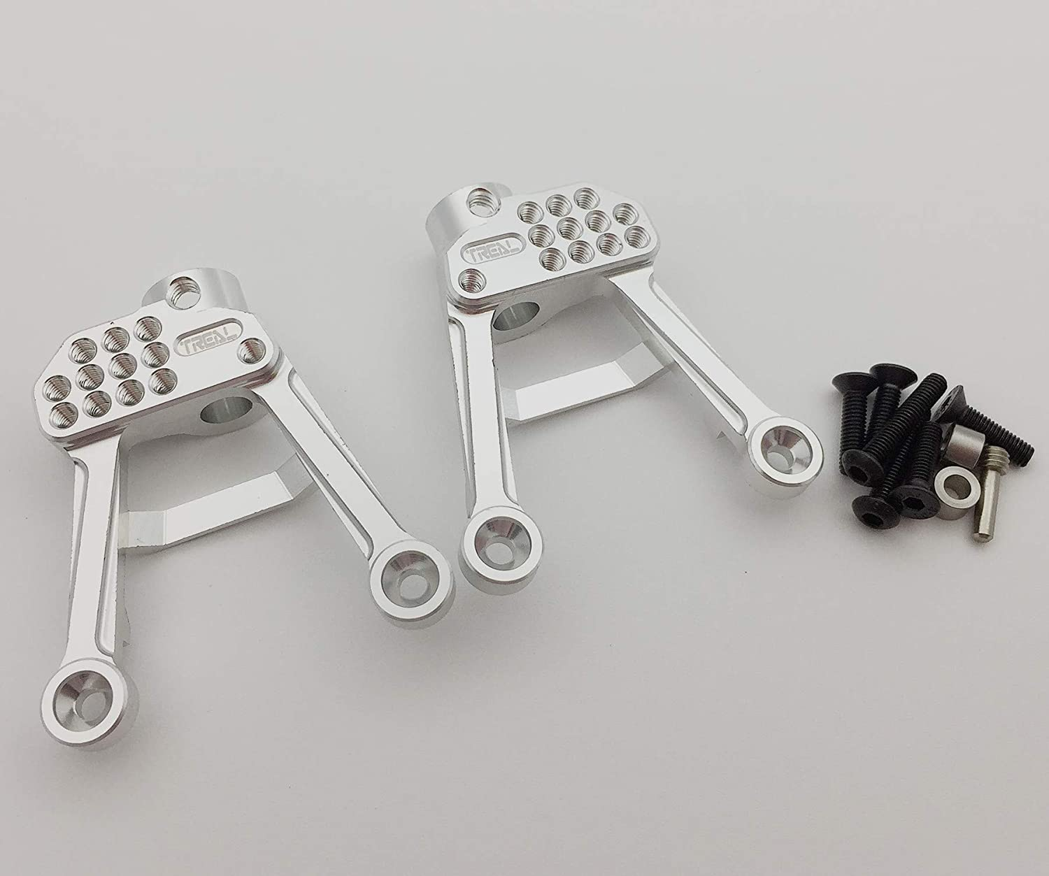 Treal Alloy Rear Shock Tower for Axial 1/10 SCX10 II (Silver)