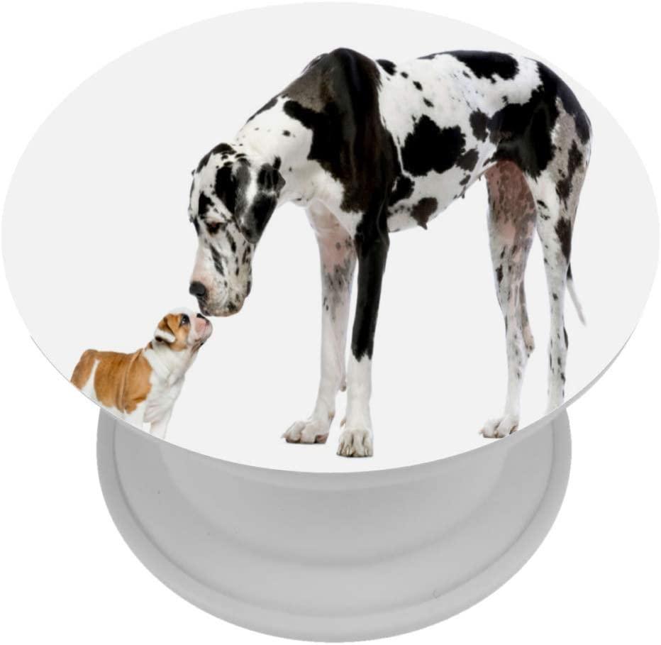Great Dane Sniffing English Bulldog Expanding Phone Socket,Prop Mount Holder for Cellphone