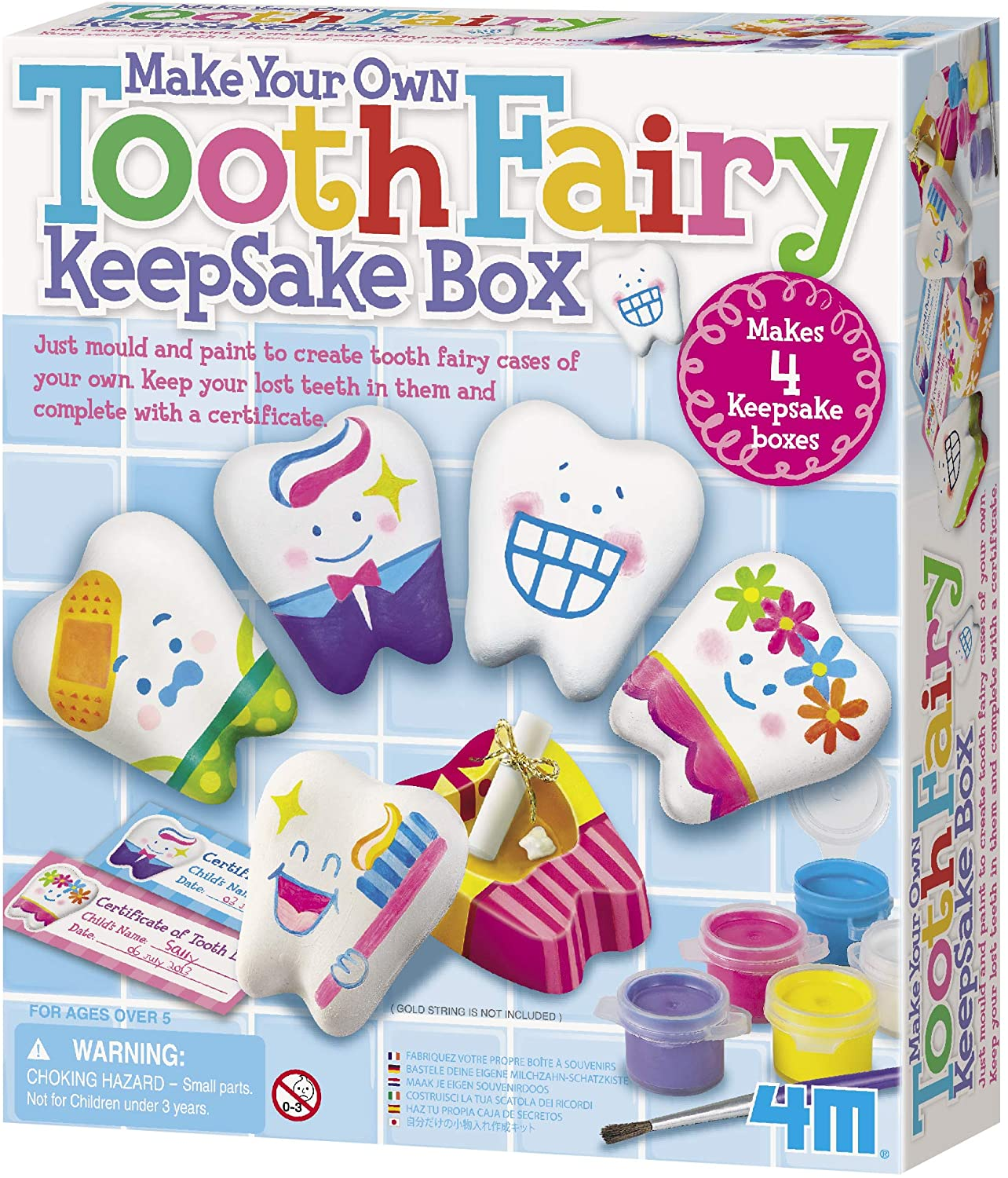 4M Make Your Own Tooth Fairy Keepsake Box - Arts and Crafts for Girls and Boys