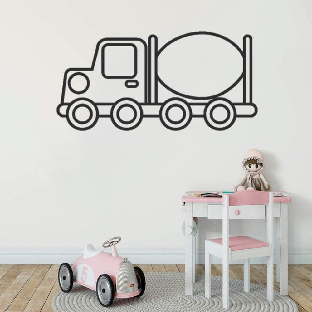 Diuangfoong Wall Stickers Kid's Truck Toy Wall Sticker Decal Art Design Kid's Wall Sticker Home Decoration