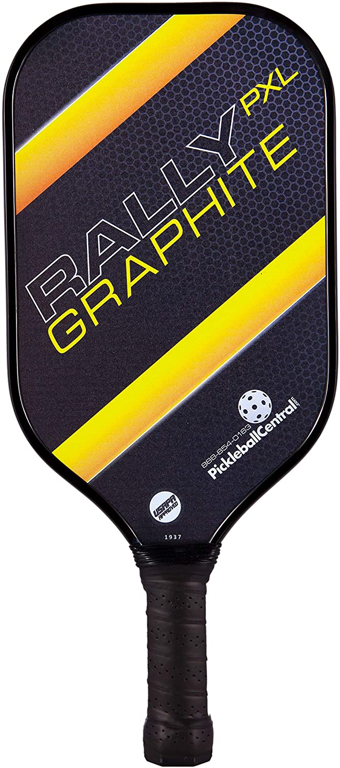 Rally PXL Graphite Pickleball Paddle   Polymer Composite Honeycomb Core, Graphite Carbon Face   Lightweight   USAPA Approved