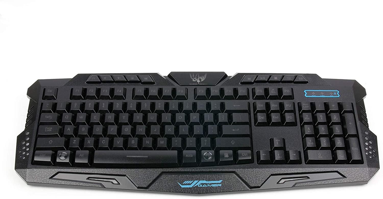 DURAGADGET UK QWERTY USB Light Up LED Gaming Keyboard - Wired