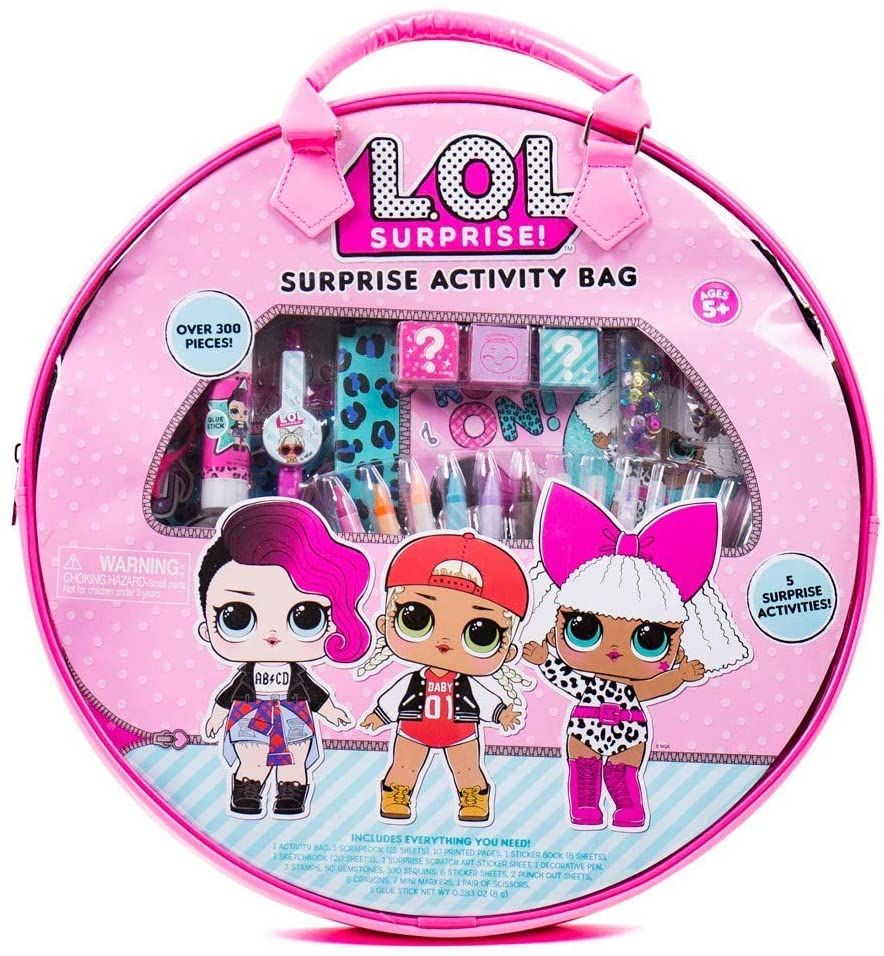 L.O.L Surprise Activity Bag by Horizon Group Usa, Ultimate Scrapbooking Kit with Over 300Piece & Activity Bag