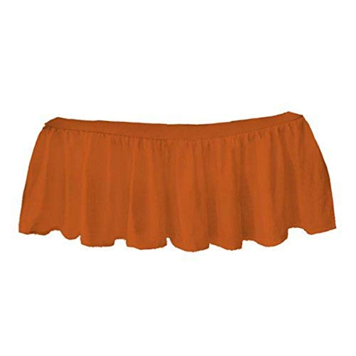 bkb Solid Ruffled Mini Crib Skirt, Orange