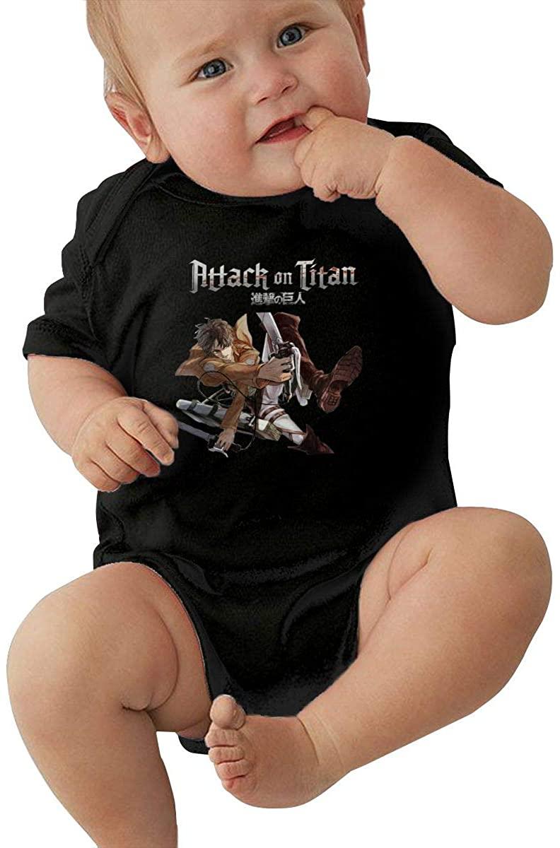 Eren Jaeger Attack On Titan Baby Jersey Bodysuits Jumpsuit Romper Onesie Pajamas
