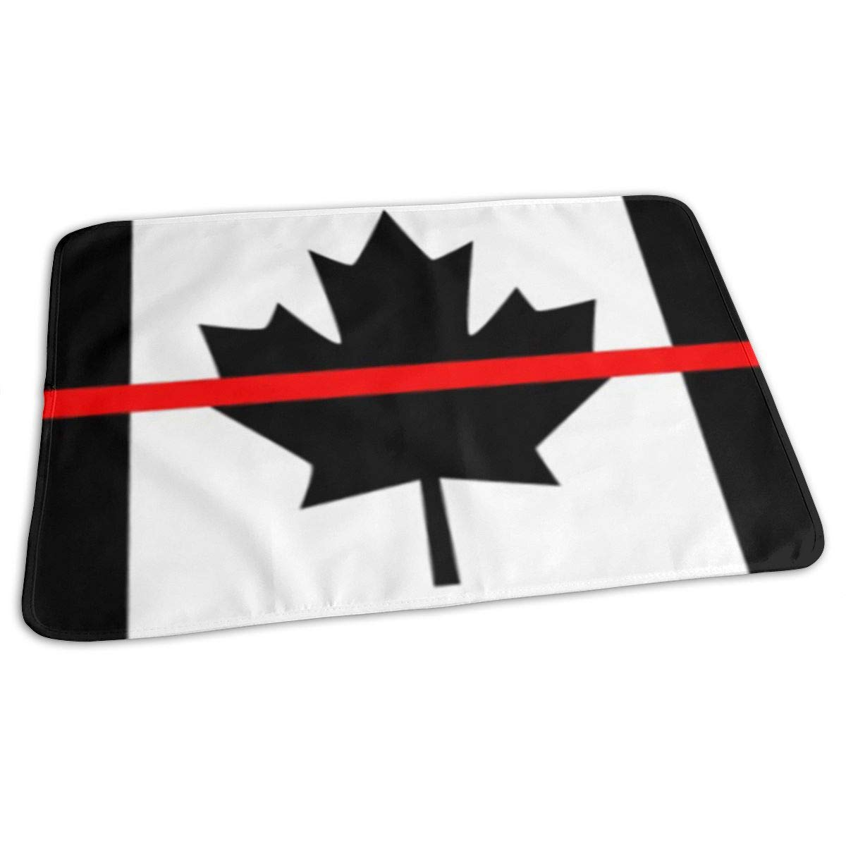 Firefighters Red Line Canada Baby Changing Pad Waterproof Portable Changing Pad Home Travel 27.5¡±x19.7¡±