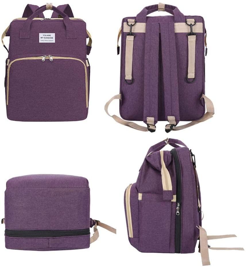 Portable Folding Crib Mommy Bag Portable Diaper Bag Baby Travel Big Backpack Change Table Mat Baby 403120cm