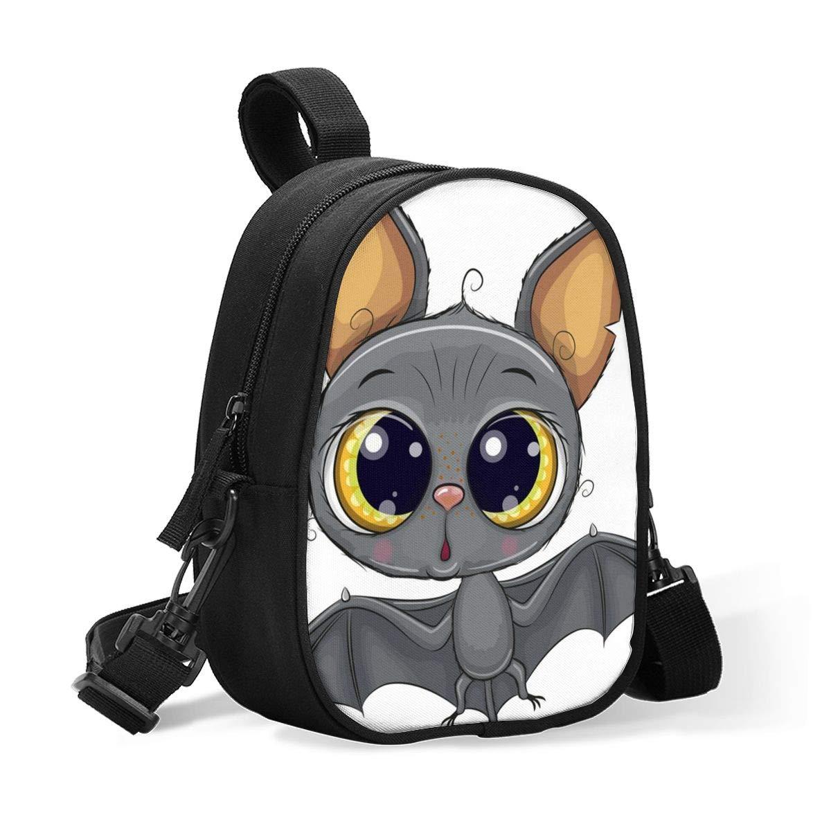 Insulated Baby Bottle Storage Cooler Bag Cute Cartoon Bat Funny Halloween Breastmilk Cooler, Day Care & Lunch Bag for Baby Formula, Breast Milk, Sports Drink - Water Bottle Holder(2 Bottles)