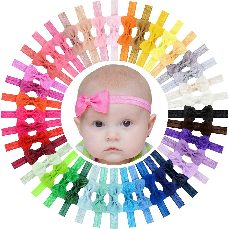 WillingTee 40pcs Baby Girls Headbands 2.75
