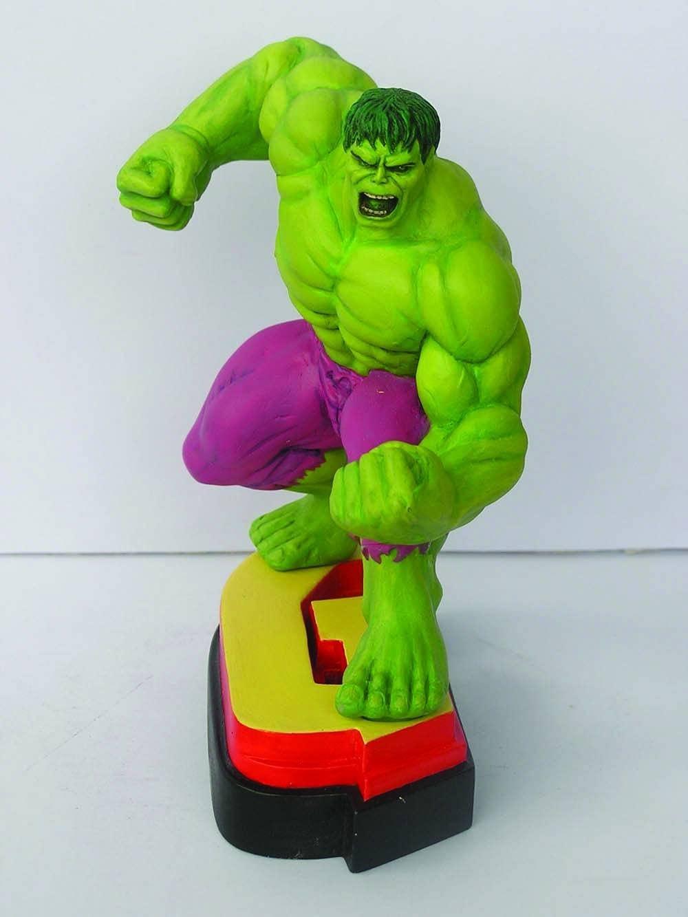 Avengers Resin Figures - Hulk on Letter Base