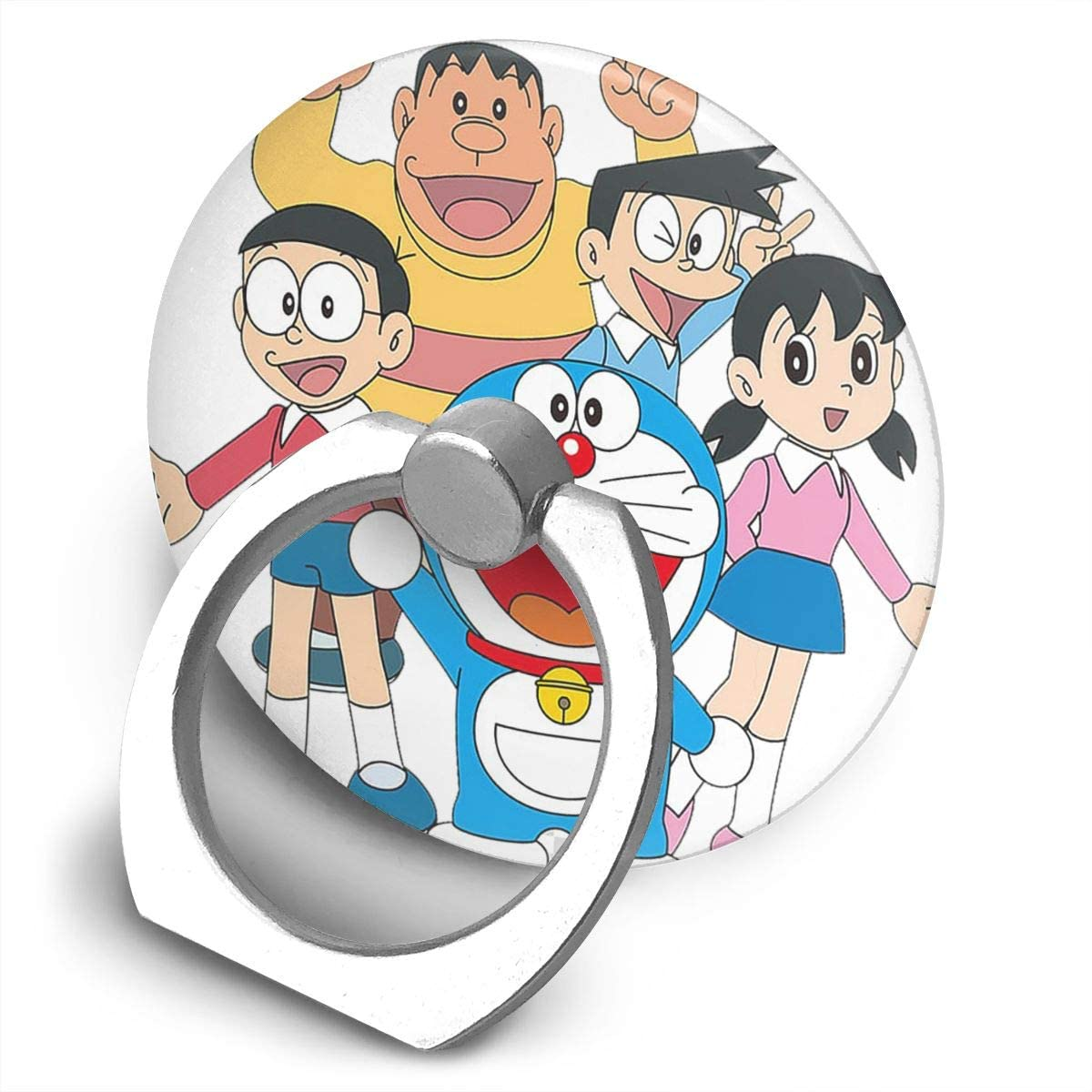 Doraemon Phone Ring Cell Phone Ring Holder Finger Kickstand,360 Degree Rotation Stand Grip with Car Mount Compatible with All Smartphone-Life is an Adventure