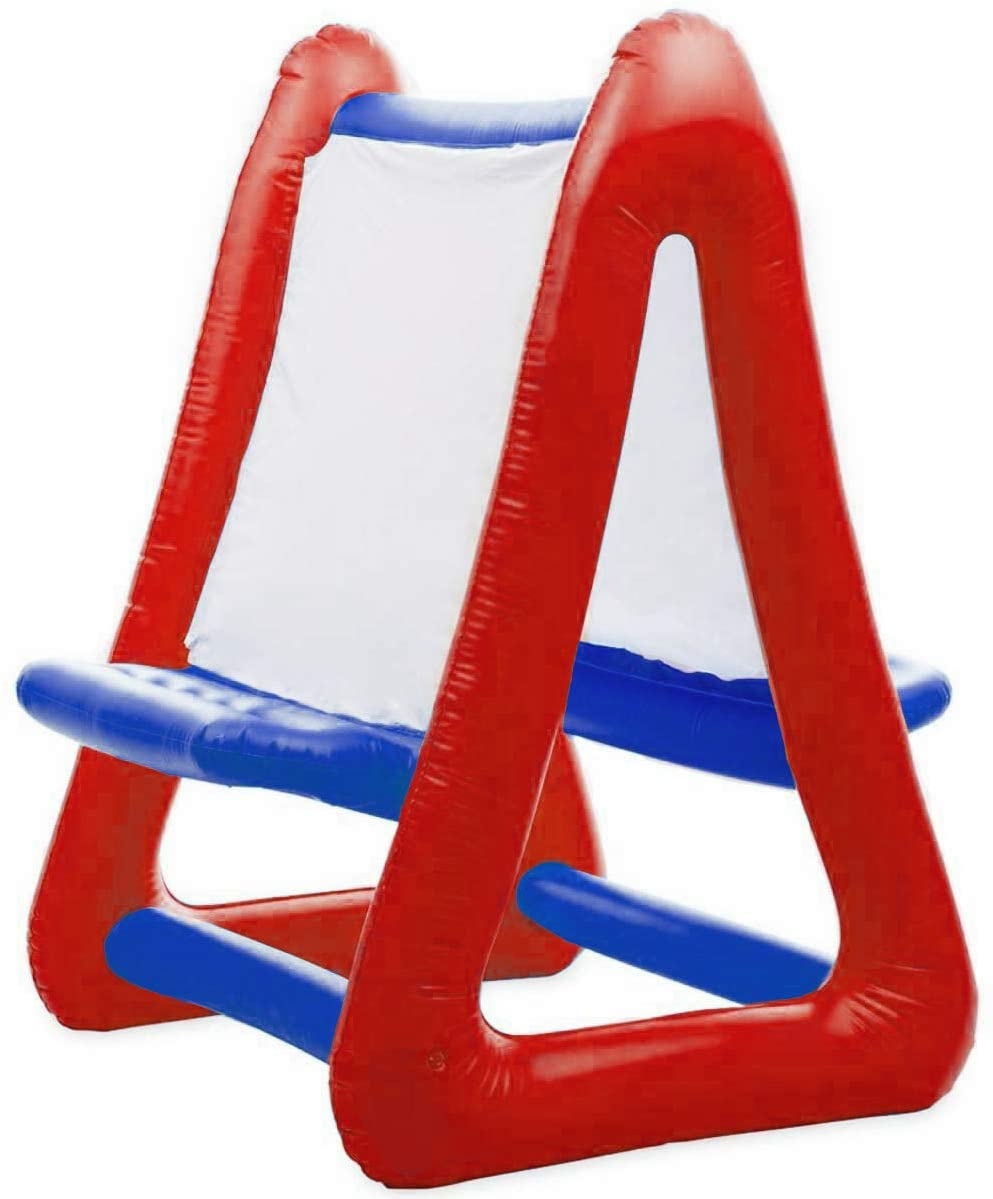Inflatable Art Easel for Kids | Red & Blue Easel for Kids | Double Sided 4 ft Tall 3 ft Wide | Inflatable Easel for Indoor or Outdoor Inflatables