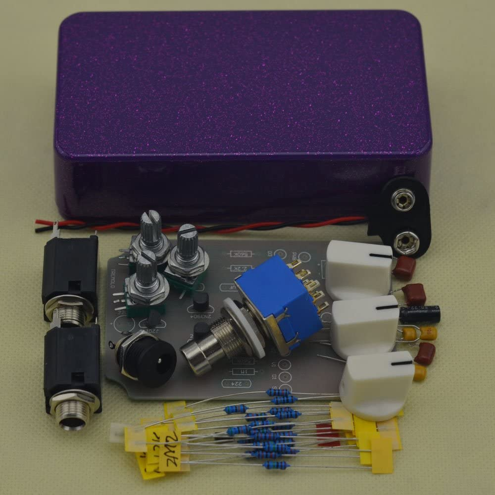 TTONE DIY Shining Purple Analog Tremolo Guitar Effects Pedal Stompbox Pedals Kit Enclosure Unfinished(NO HOLES)