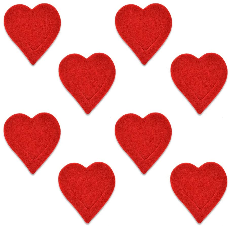 XO Valentine's Day Heart Shape Felt Craft Kit Supplies - for Party or Wedding Decoration - 120 Piece Set