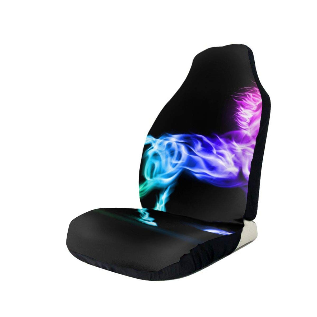 Car Seat Cover, Universal Car Seat Covers, Amazing Fire Unicorn Seat Covers Universal for Front Seat, Automobile Seats Protector Fits Most Car Trucks SUV