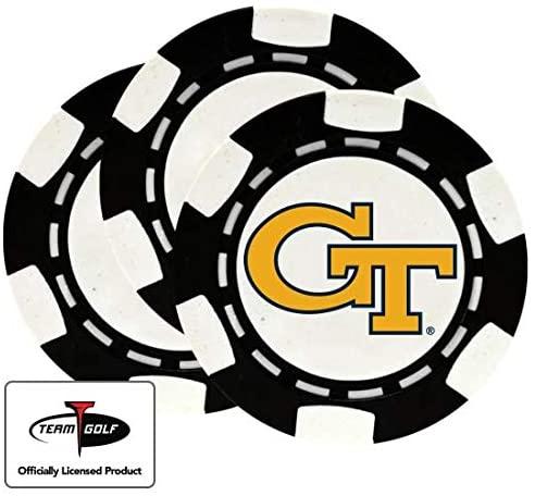 Golfballs.com Classic Georgia Tech Poker Chips - 3 Pack