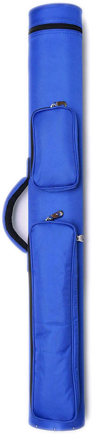 2x2 Hard Oval Pool Cue Billiard Stick Carrying Case (Several Colors Available)