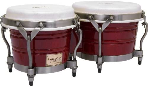 Tycoon Percussion 7 Inch & 8 1/2 Inch Signature Classic Series Bongos - Red Finish